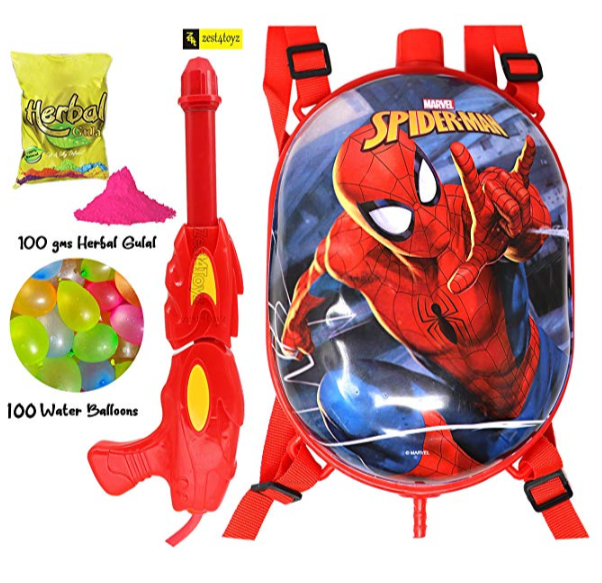 Holi-water-gun-with-sticker-of-spider-man