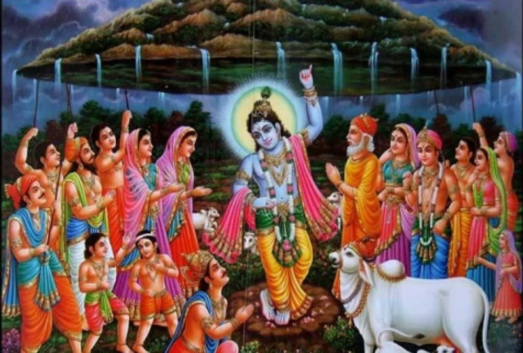 Lord-krisha-holding-govardhan-mountain-with-small-finger