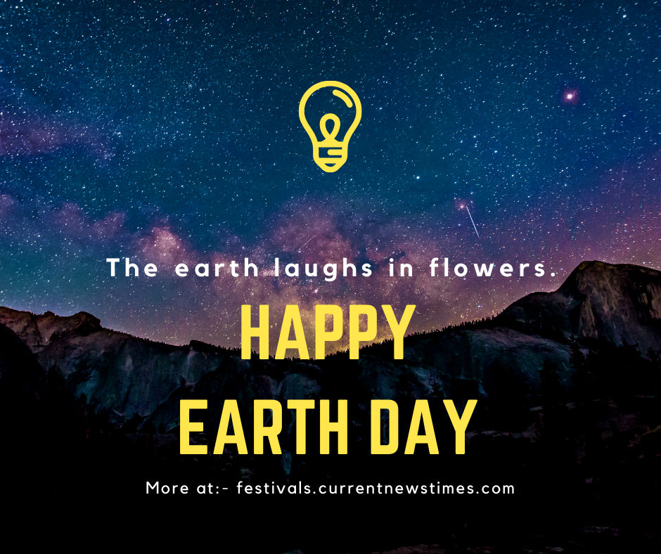earth day poster with slogan