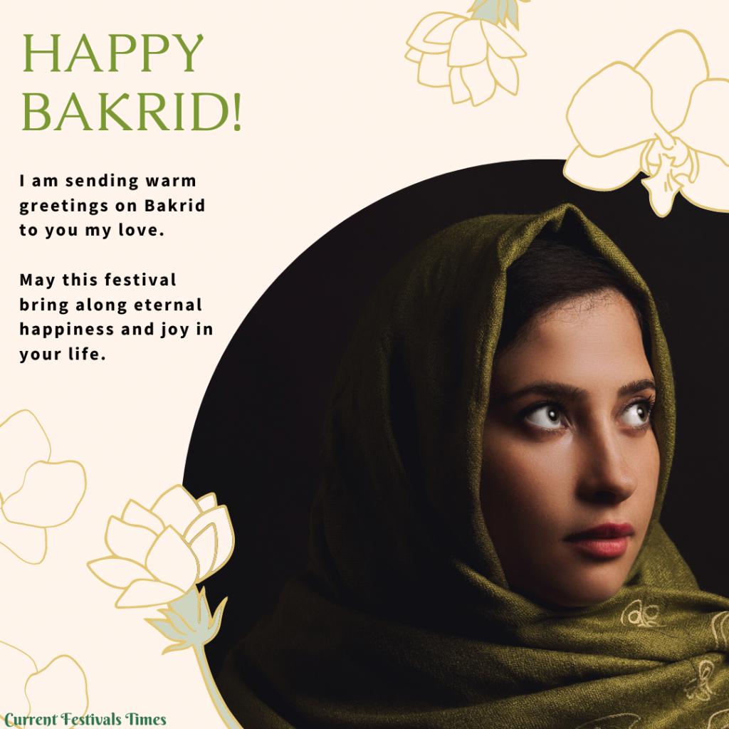 Bakrid wishes for lover