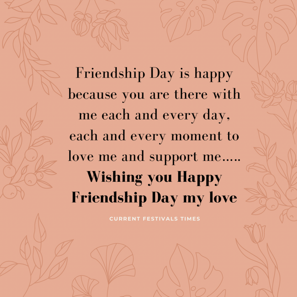 Friendship day quotes for boyfriend