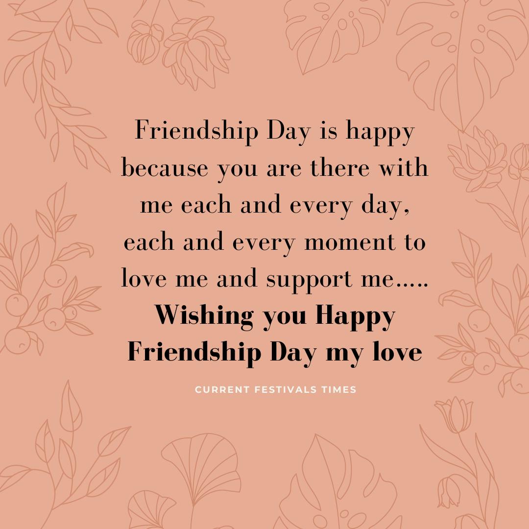 Friendship day quotes for boyfriend