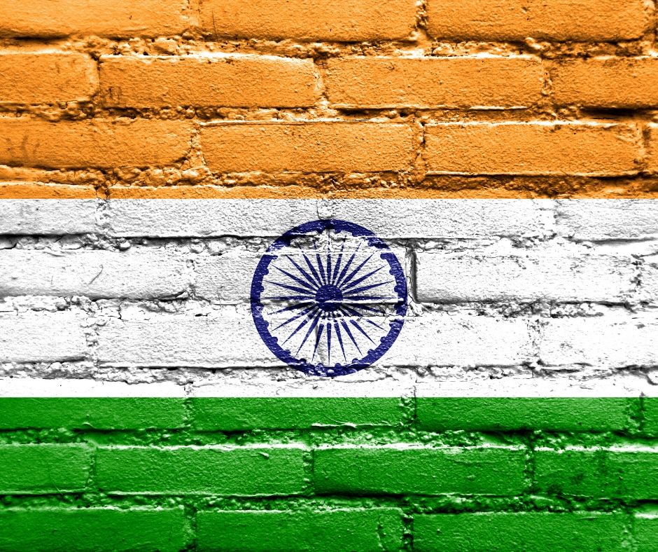 Indian-flag-painted-on-a-wall
