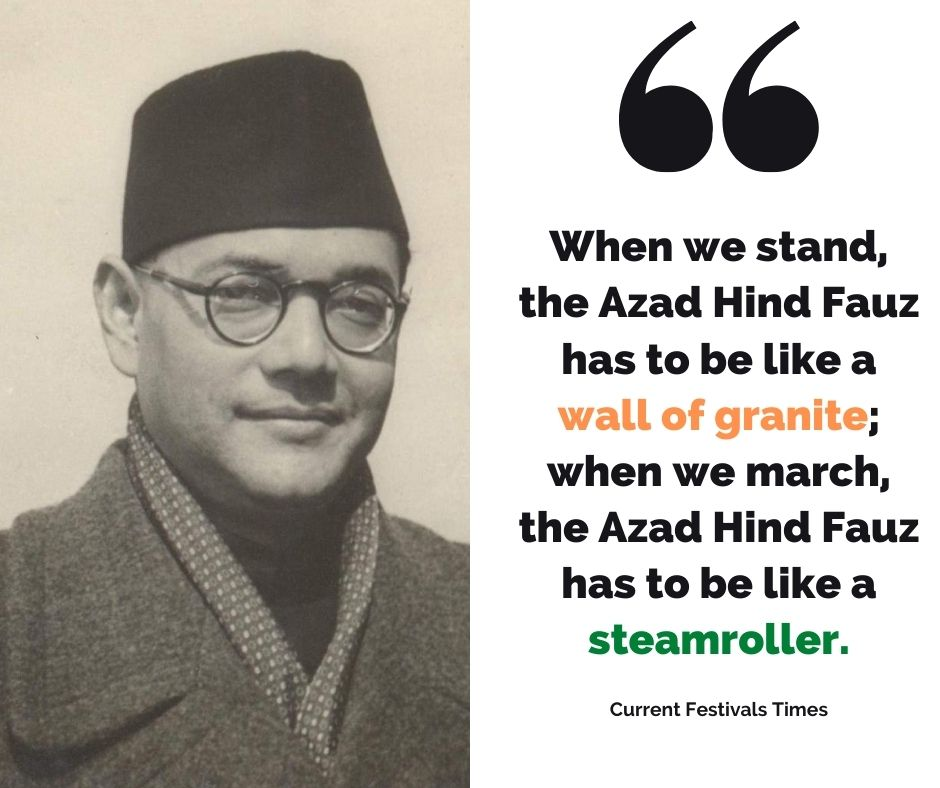 quotes by netaji subhash chandra bose