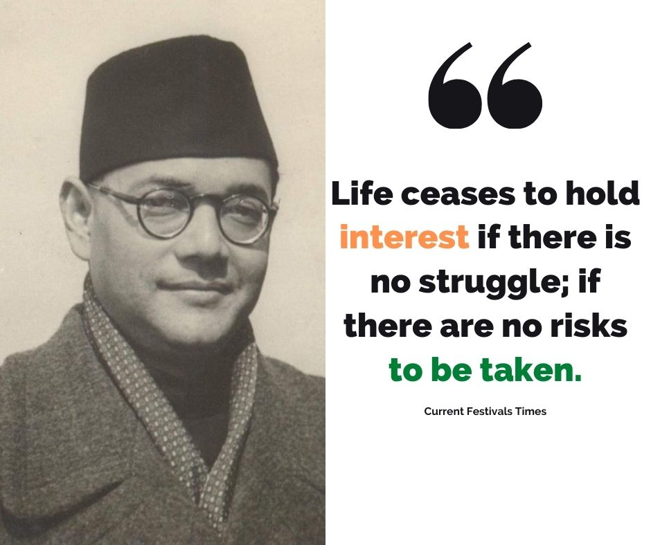 quotes of netaji subhash chandra bose