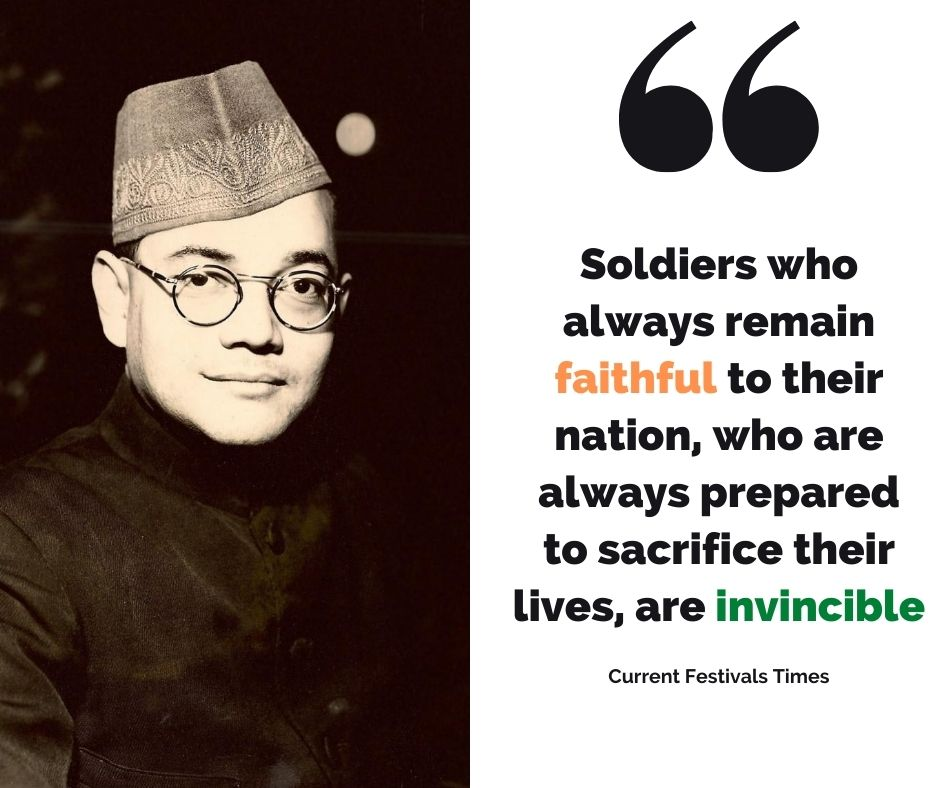 subhash chandra bose famous quotes