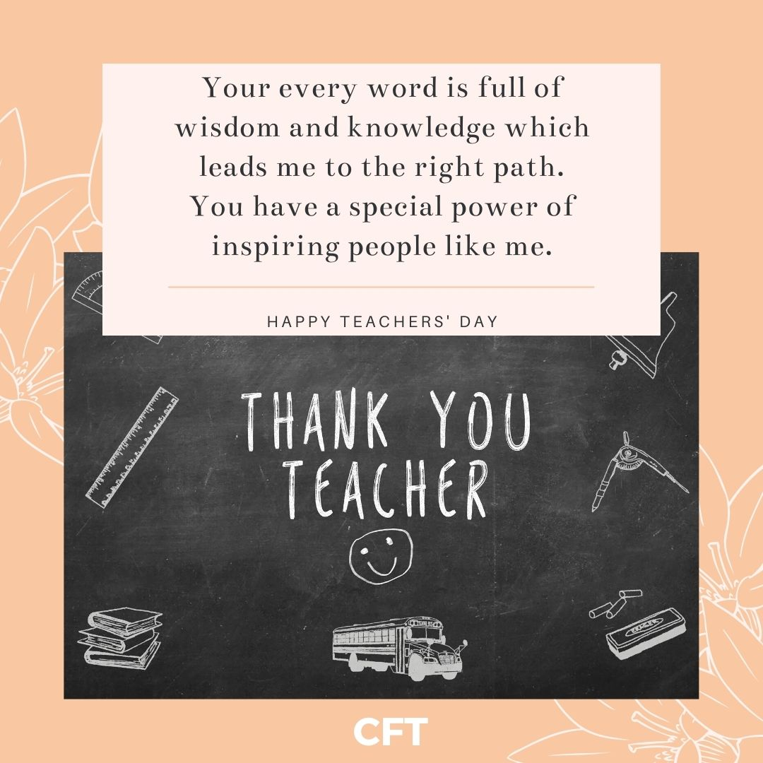 best thoughts for teachers day in english