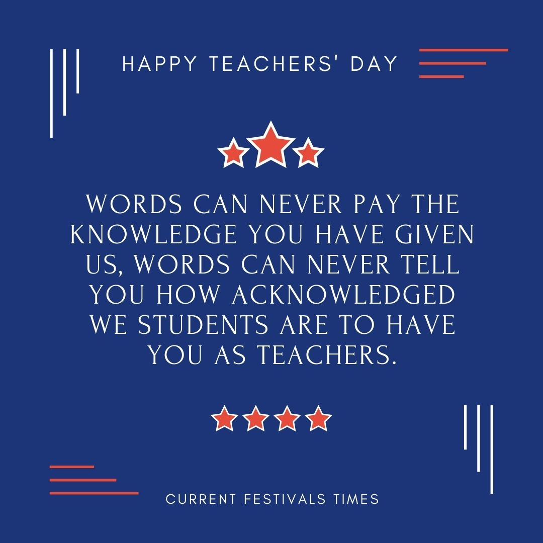 happy teachers day thoughts in english