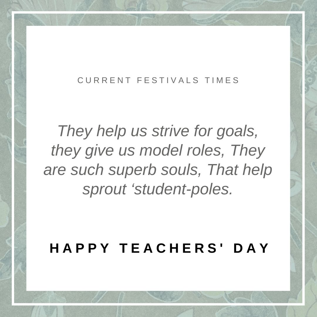thought about teachers day in english