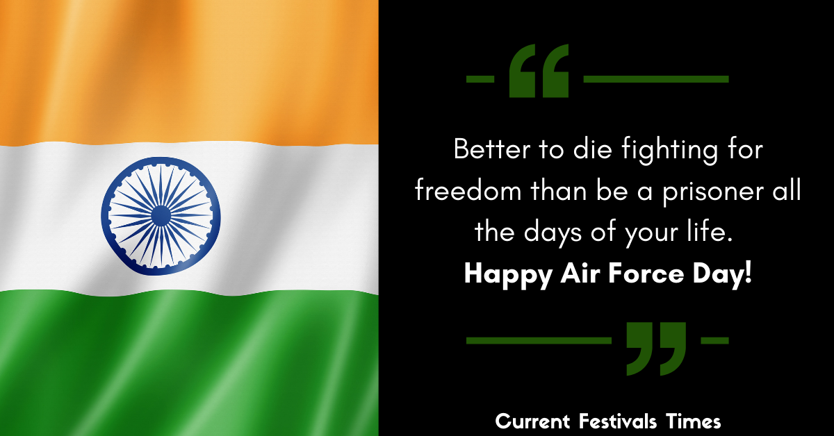 Indian Air Force Day Wishes Images