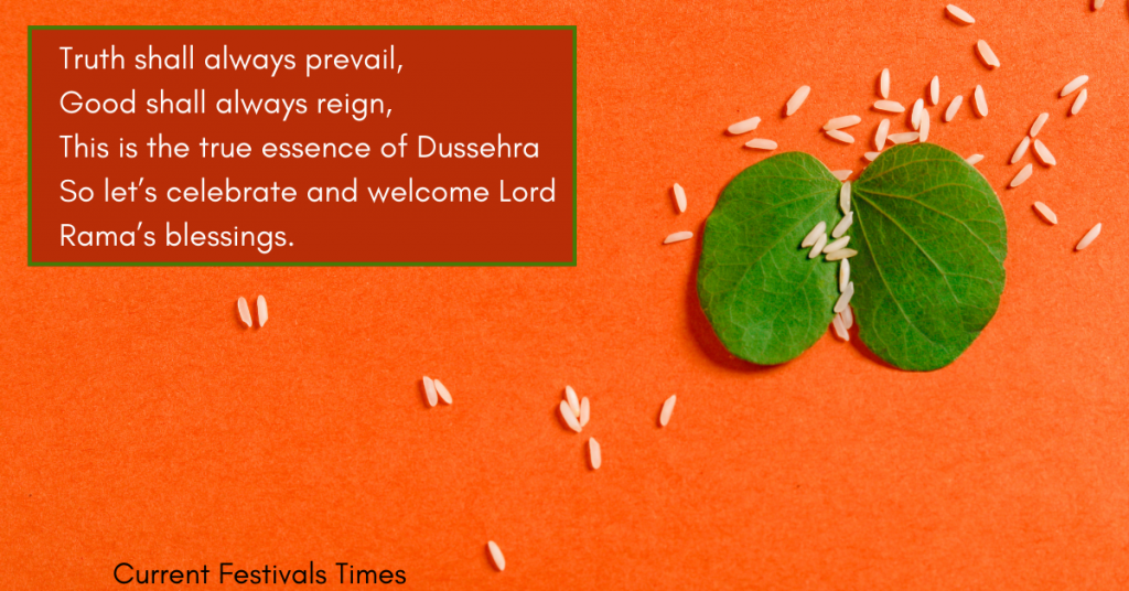 dussehra wishes in english