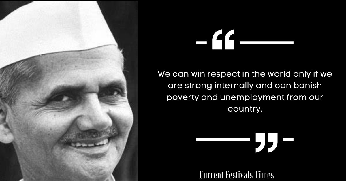 famous quotes of lal bahadur shastri in english