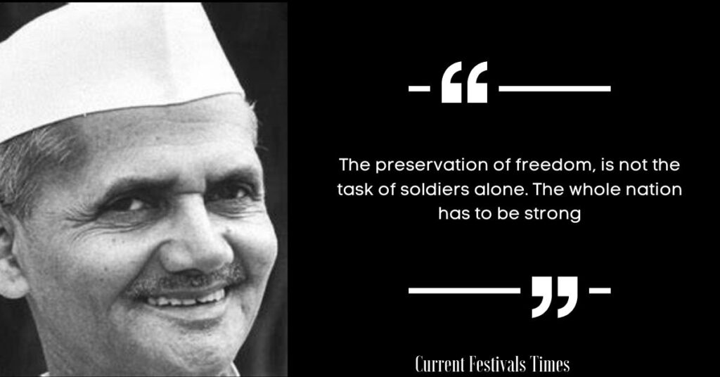 lal bahadur shastri birthday quotes