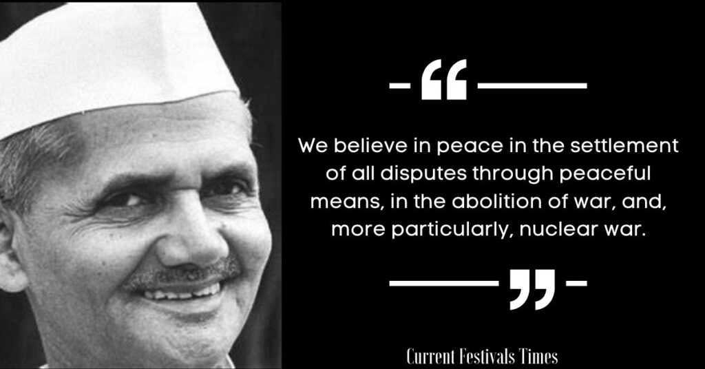 lal bahadur shastri quotations