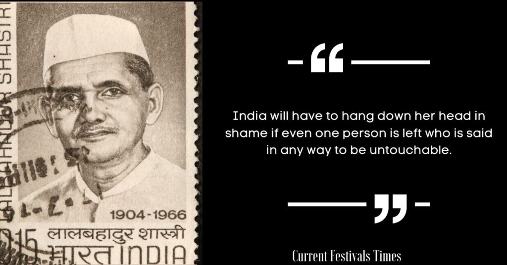 lal bahadur shastri quotes english