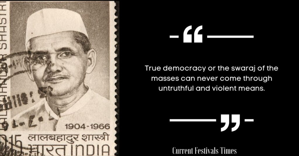 lal bahadur shastri quotes on education