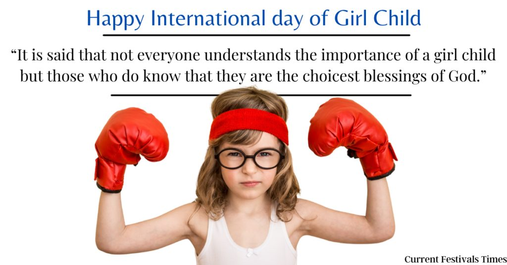 International Girl Child Day Messages Images